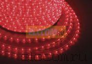 Дюралайт светодиодный, постоянное свечение(2W), красный, 220В, бухта 100м