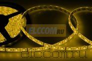 LED лента герметичная в силиконе, ширина 10 мм, IP65, SMD 5050, 60 диодов/метр, 12V, цвет светодиодов желтый