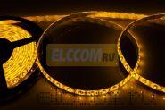 LED лента герметичная в силиконе, ширина 8 мм, IP65, SMD 3528, 60 диодов/метр, 12V, цвет светодиодов желтый NEON-NIGHT