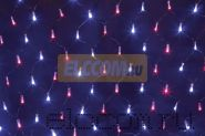 Гирлянда - сеть светодиодная 2 х 0.7м, свечение с динамикой, черный провод, красно/синие диоды NEON-NIGHT