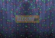 """Гирлянда """"Светодиодный Дождь"""" 1,5х1,5м, свечение с динамикой, прозрачный провод, 220В, диоды МУЛЬТИКОЛОР, NEON-NIGHT"""