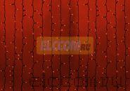"""Гирлянда """"Светодиодный Дождь"""" 2х1,5м, постоянное свечение, черный провод, 220В, диоды КРАСНЫЕ, NEON-NIGHT"""
