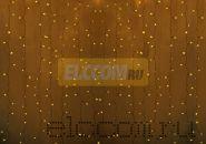 """Гирлянда """"Светодиодный Дождь"""" 2х3м, постоянное свечение, прозрачный провод, 220В, диоды ЖЁЛТЫЕ"""