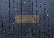 """Гирлянда """"Светодиодный Дождь"""" 2х9м, постоянное свечение, черный провод """"КАУЧУК"""", 220В, диоды БЕЛЫЕ, NEON-NIGHT"""