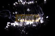 "Гирлянда ""Дюраплей LED"" 20м 200 LED черный провод, мерцающий ""Flashing"" (каждый 5-й диод), диоды БЕЛЫЕ NEON-NIGHT"