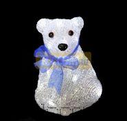 """Акриловая светодиодная фигура """"Белый мишка"""" 20 см, 4,5 В, 3 батарейки AA (не входят в комплект), 20 светодиодов, NEON-NIGHT"""