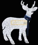 """Акриловая светодиодная фигура """"Северный олень"""" 100х65 см, 420 светодиодов, IP44 понижающий трансформатор в комплекте, NEON-NIGHT"""