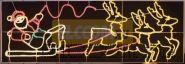 """Фигура световая """"Олени везут Санта Клауса на санях"""" размер 88*266 см NEON-NIGHT"""