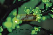 """Светодиодное дерево """"Сакура"""", высота 2,4м, диаметр кроны 2,0м, зеленые светодиоды, IP 54, понижающий трансформатор в комплекте, NEON-NIGHT"""