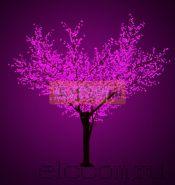 """Светодиодное дерево """"Сакура"""", высота 3,6м, диаметр кроны 3,0м, фиолетовые светодиоды, IP 64, понижающий трансформатор в комплекте, NEON-NIGHT"""