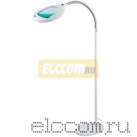 Лупа напольная 3Х с подсветкой 60 LED, белая REXANT