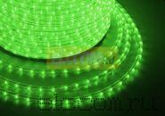Дюралайт светодиодный, постоянное свечение(2W), зеленый, 220В, диаметр 13 мм, бухта 100м, NEON-NIGHT
