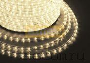 Дюралайт светодиодный, постоянное свечение(2W), тепло-белый, 220В, бухта 100м