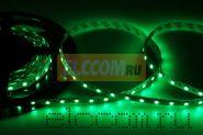 LED лента открытая, ширина 10 мм, IP23, SMD 5050, 60 диодов/метр, 12V, цвет светодиодов зеленый