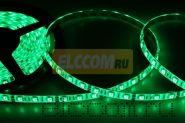 LED лента герметичная в силиконе, ширина 10 мм, IP65, SMD 5050, 60 диодов/метр, 12V, цвет светодиодов зеленый