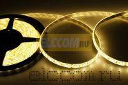 LED лента герметичная в силиконе, ширина 10 мм, IP65, SMD 5050, 60 диодов/метр, 12V, цвет светодиодов теплый белый LAMPER