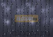 """Гирлянда """"Светодиодный Дождь"""" 2х4м, эффект мерцания, черный провод, 220В, диоды БЕЛЫЕ, NEON-NIGHT"""