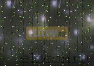 """Гирлянда """"Светодиодный Дождь"""" 2х1,5м, эффект мерцания, белый провод, 220В, диоды ЗЕЛЁНЫЕ, NEON-NIGHT"""