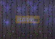 """Гирлянда """"Светодиодный Дождь"""" 2х3м, эффект мерцания, черный провод, 220В, диоды ЗЕЛЁНЫЕ, NEON-NIGHT"""