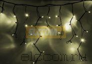 """Гирлянда Айсикл (бахрома) светодиодный, 5,6х0,9м, с эффектом мерцания,черный провод """"КАУЧУК"""", 220В, диоды тепло-белые, NEON-NIGHT"""