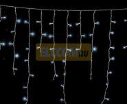 """Гирлянда """"Айсикл Белый"""" 2.5х0.6м / 5 блоков, белый провод, лампы прозрачные NEON-NIGHT"""