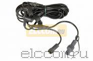 Комплект подключения сосулек светодиодных 50 или 80 см. Длина 6,5 метра, 5 патронов, шаг 1,5 метра, цвет провода черный