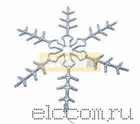 """Фигура световая """"Снежинка"""" цвет белый, размер 95 см, мигающая (2В с контроллером) NEON-NIGHT"""