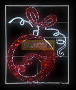 "Фигура световая ""Елочный шар"" 20м дюралайта, размер 150*120см NEON-NIGHT"