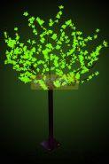 """Светодиодное дерево """"Сакура"""", высота 1,5 м, диаметр кроны 1,3м, зеленые диоды, IP 44, понижающий трансформатор в комплекте, NEON-NIGHT"""